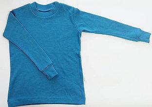 Detské oblečenie - 100% merino funkčné tričko s dlhým rukávom (6 - 8 rokov) - 11406913_
