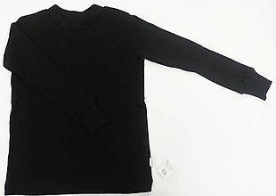 Detské oblečenie - VÝPREDAJ Čierny detský nátelník merino - 11406957_