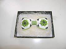 Doplnky - Pánsky motýlik olivovo zelený - 11406725_