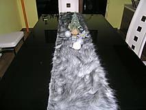 Úžitkový textil - Vinočná štóla šedá - 11406770_