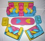 Hračky - Gaučová súprava pre Barbie - 11408779_