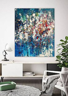 Obrazy - Farebný svet, 100x120, abstraktné obrazy, abstraktný obraz - 11408031_