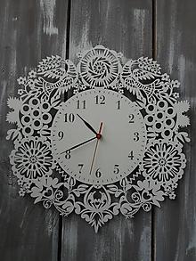 Hodiny - Čipkované  hodiny - 11408296_