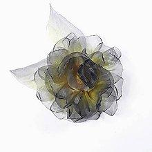 Ozdoby do vlasov - Šifónová ruža - univerzálna ozdoba - 11407501_