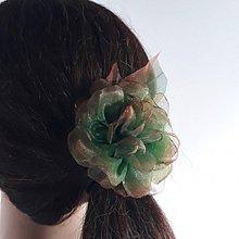 Ozdoby do vlasov - Šifónová ruža - univerzálna ozdoba - 11407527_