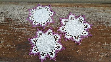 Dekorácie - maxi vločka bielo/fialova - 11407665_