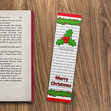 Papiernictvo - Vianočné záložky do knižky - cezmína - 11406375_
