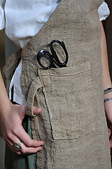 Úžitkový textil - Zástera z režného ľanu - 11409202_