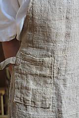 Úžitkový textil - Zástera z režného ľanu - 11409206_