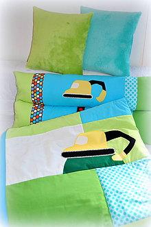 Textil - 5 dielna sada z kolekcie Transport 120/205cm+4ks vankúš - 11411024_