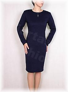 Šaty - Šaty-krásně hřejivý úplet(více barev) (Červená) - 11408945_