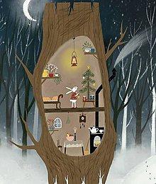 """Obrazy - """"U zajka na Vianoce"""" reprodukcia mojej malby - 11410579_"""