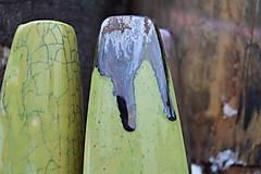 Dekorácie - Vázy bronzové, zelené - TRIO - 11410472_