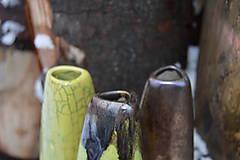 Dekorácie - Vázy bronzové, zelené - TRIO - 11410479_