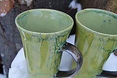 Nádoby - Latte šálka, zelená, kraklovaná :o)). - 11410549_