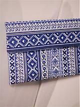 """Kabelky - Listová kabelka """" Folk Blue & white """" - 11409586_"""