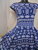 """Kabelky - Listová kabelka """" Folk Blue & white """" - 11409587_"""