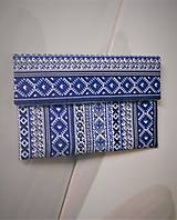 """Kabelky - Listová kabelka """" Folk Blue & white """" - 11409588_"""