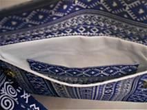 """Kabelky - Listová kabelka """" Folk Blue & white """" - 11409589_"""