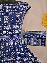 """Kabelky - Listová kabelka """" Folk Blue & white """" - 11409592_"""