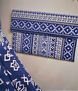 """Kabelky - Listová kabelka """" Folk Blue & white """" - 11409596_"""