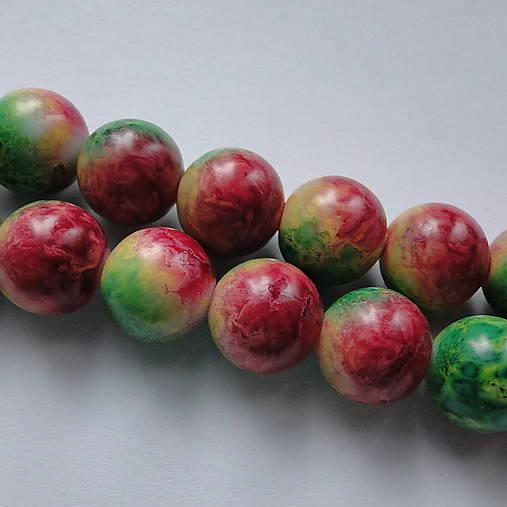 Sklenené maľované-1ks (12mm-zelená/červená)