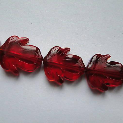 Sklenené korálky-kvet 20mm-1ks (červená)