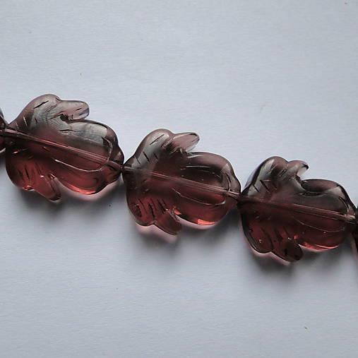Sklenené korálky-kvet 20mm-1ks (ametyst)