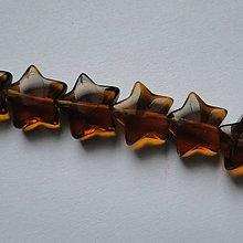 Korálky - Sklenená korálka-hviezda 12mm-1ks - 11410143_
