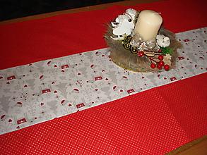 Úžitkový textil - Vianočná štola červená - 11409153_