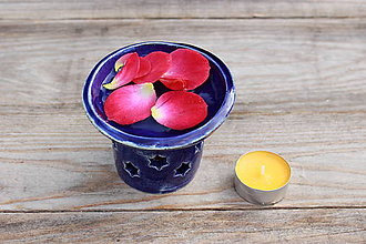 Svietidlá a sviečky - Aromalampa - kráľovská modrá alebo červená - 11409945_