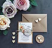 Papiernictvo - Svadobné oznámenie DVAJA - 11411206_