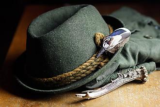 Doplnky - ozdoba za klobúk - 11409124_