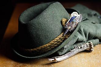 Doplnky - ozdoba za klobúk - 11409137_