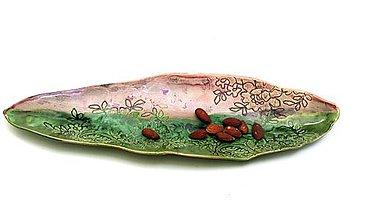 Nádoby - miska ružovo zelená príroda - 11409155_