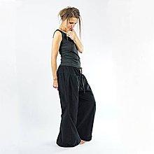 Nohavice - Harémky černé manšestrové - 11410862_