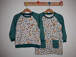 Detské oblečenie - Set pre dvojičky: mikina a predĺžená mikina - 11409915_