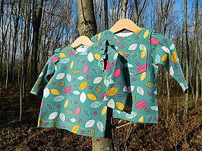 Detské oblečenie - SET PRE DVOJIČKY tričká s dlhým rukávom - 11409943_