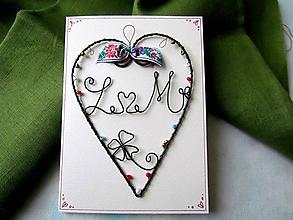 Papiernictvo - pohľadnica svadobná ( menšia) - 11410092_