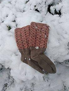 Obuv - Netradičné pletené ponožky. - 11410840_