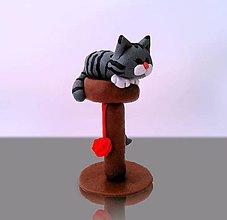 Dekorácie - Mačička a klbko vlny - 11409803_
