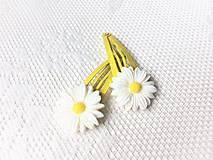 Ozdoby do vlasov - Pin Up sponky do vlasov (margarétky) - 11412849_