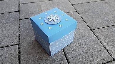 """Papiernictvo - Krabička - Christmas """"Biele vločky"""" - 11412297_"""