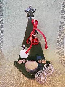 Svietidlá a sviečky - Stromček 2- svietnik - 11411262_