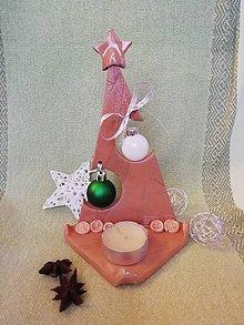 Svietidlá a sviečky - Stromček na sviečku - prírodný 2 - 11411284_