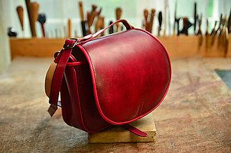 Kabelky - Rezervácia-kožená lovecká kabelka Burgundy sex - 11411353_
