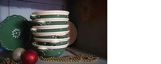 Nádoby - New zelená keramická miska na guláš - 11411510_