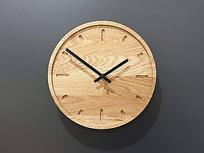 Hodiny - Marc Mini Round Clock s ciferníkom a tichým strojčekom - 11412277_