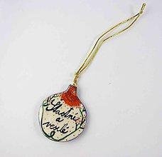 Dekorácie - TANA hand made jewellery - keramika/zlato, vianočné ozdoby - 11411363_