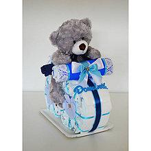 Detské doplnky - Plienková torta MOTORKA - 11411716_